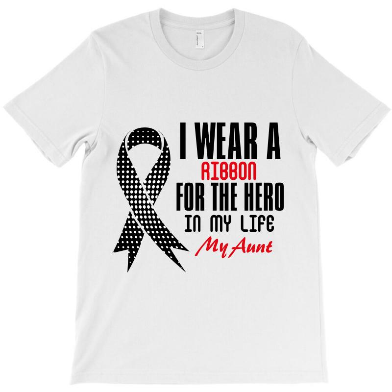 I Wear A Ribbon For The Hero In My Life My Aunt T-shirt | Artistshot