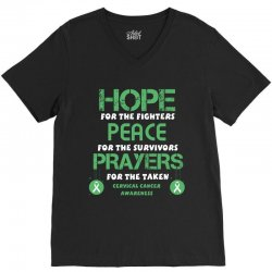 hope for the fighters peace for the survivors prayers for the taken ce V-Neck Tee | Artistshot