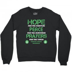 hope for the fighters peace for the survivors prayers for the taken ce Crewneck Sweatshirt | Artistshot