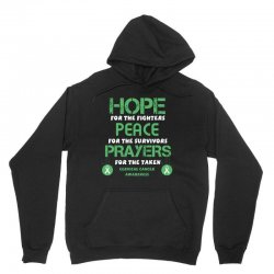 hope for the fighters peace for the survivors prayers for the taken ce Unisex Hoodie | Artistshot