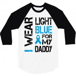 i wear light blue for my daddy 3/4 Sleeve Shirt | Artistshot
