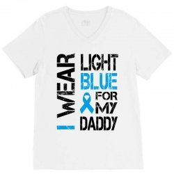 i wear light blue for my daddy V-Neck Tee | Artistshot