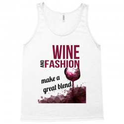 wine and fashion make a great blend Tank Top | Artistshot