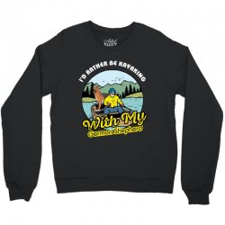 i'd rather be kayaking with my german shepherd Crewneck Sweatshirt | Artistshot