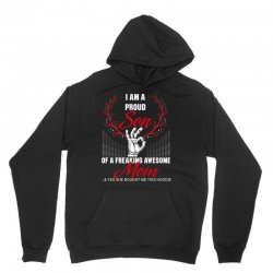 i am a proud son of a freaking awesome mom Unisex Hoodie | Artistshot