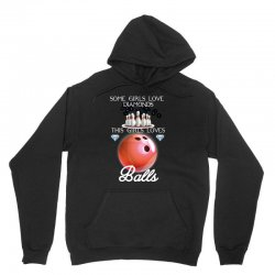 some girl love diamonds this girls loves ball Unisex Hoodie | Artistshot