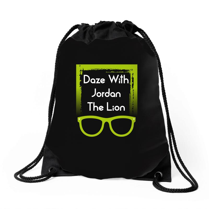 d32ddc637e700f Custom Daze With Jordan The Lion Drawstring Bags By Wizarts - Artistshot
