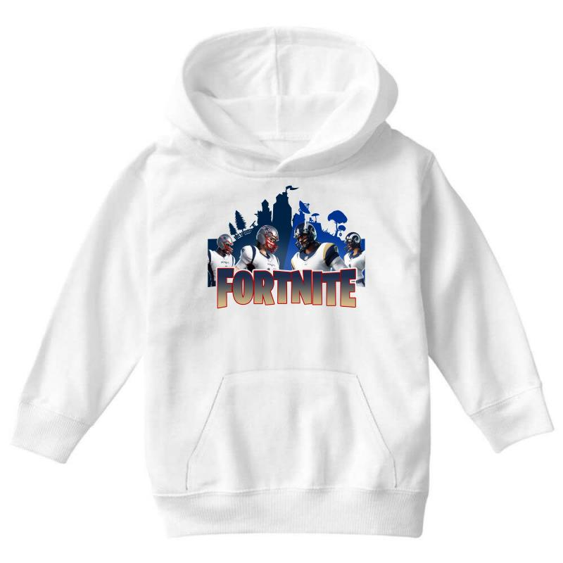 Custom Fortnite New England Patriots Youth Hoodie By Nurbetulk  for sale