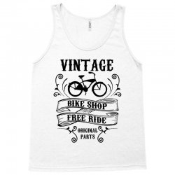 vintage bike shop free ride original parts Tank Top | Artistshot