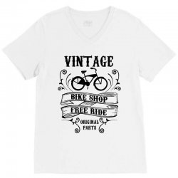 vintage bike shop free ride original parts V-Neck Tee | Artistshot