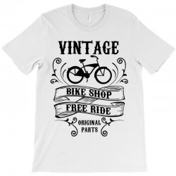 vintage bike shop free ride original parts T-Shirt | Artistshot