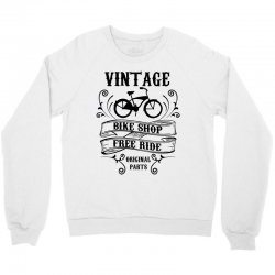 vintage bike shop free ride original parts Crewneck Sweatshirt | Artistshot