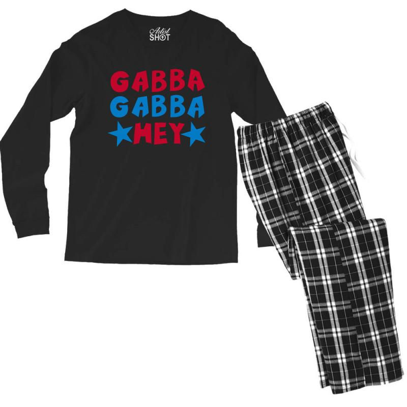 Gabba Gabba Hey Men's Long Sleeve Pajama Set | Artistshot