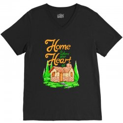 home is where your heart at V-Neck Tee | Artistshot