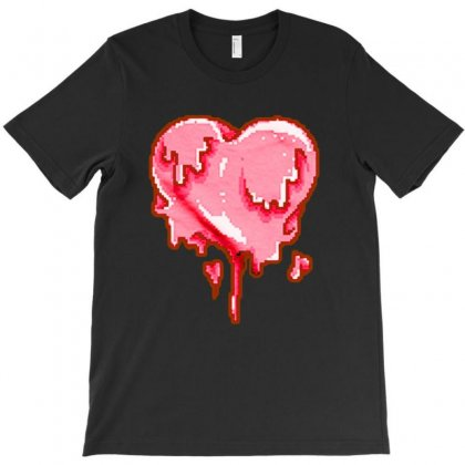Love Melt Pixel T-shirt Designed By Ninabobo