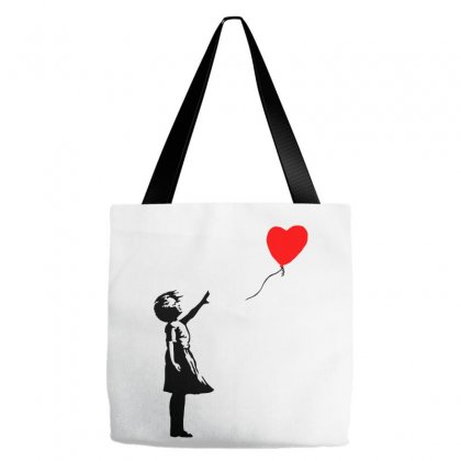 Banksy Girl With Balloon Tote Bags Designed By Toweroflandrose