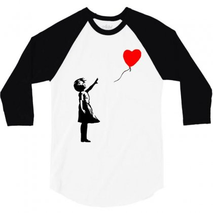 Banksy Girl With Balloon 3/4 Sleeve Shirt Designed By Toweroflandrose