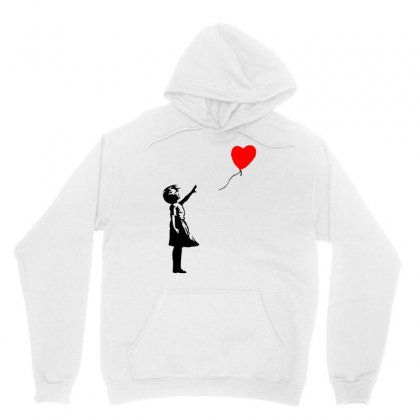 Banksy Girl With Balloon Unisex Hoodie Designed By Toweroflandrose