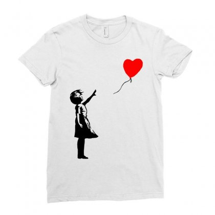 Banksy Girl With Balloon Ladies Fitted T-shirt Designed By Toweroflandrose