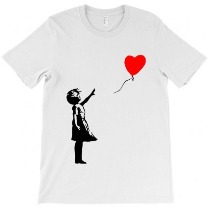 Banksy Girl With Balloon T-shirt Designed By Toweroflandrose
