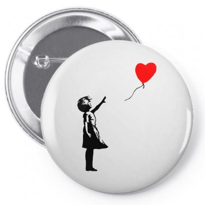 Banksy Girl With Balloon Pin-back Button Designed By Toweroflandrose