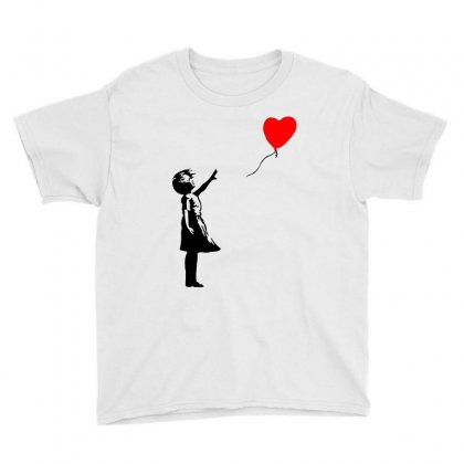 Banksy Girl With Balloon Youth Tee Designed By Toweroflandrose