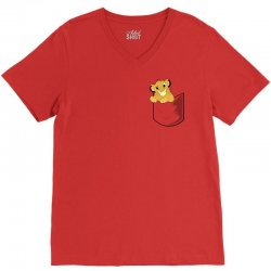 simba pocket V-Neck Tee | Artistshot