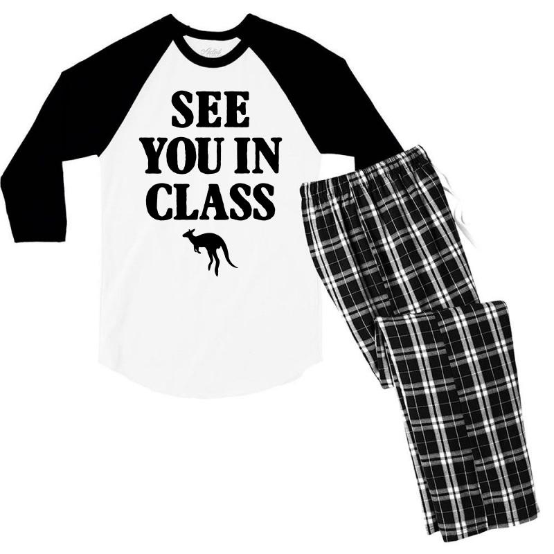 See You In Class For Light Men's 3/4 Sleeve Pajama Set | Artistshot