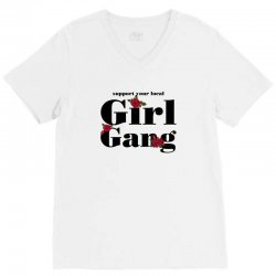 girl gang for light V-Neck Tee | Artistshot