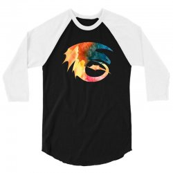 toothless watercolor 3/4 Sleeve Shirt | Artistshot