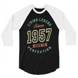 Since 1957 Aged To Perfection 3/4 Sleeve Shirt | Artistshot