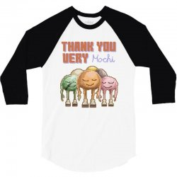 thank you very mochi food puns 3/4 Sleeve Shirt | Artistshot