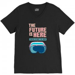 the future is here V-Neck Tee | Artistshot