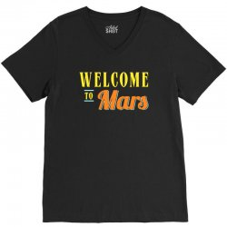 welcome to mars V-Neck Tee | Artistshot