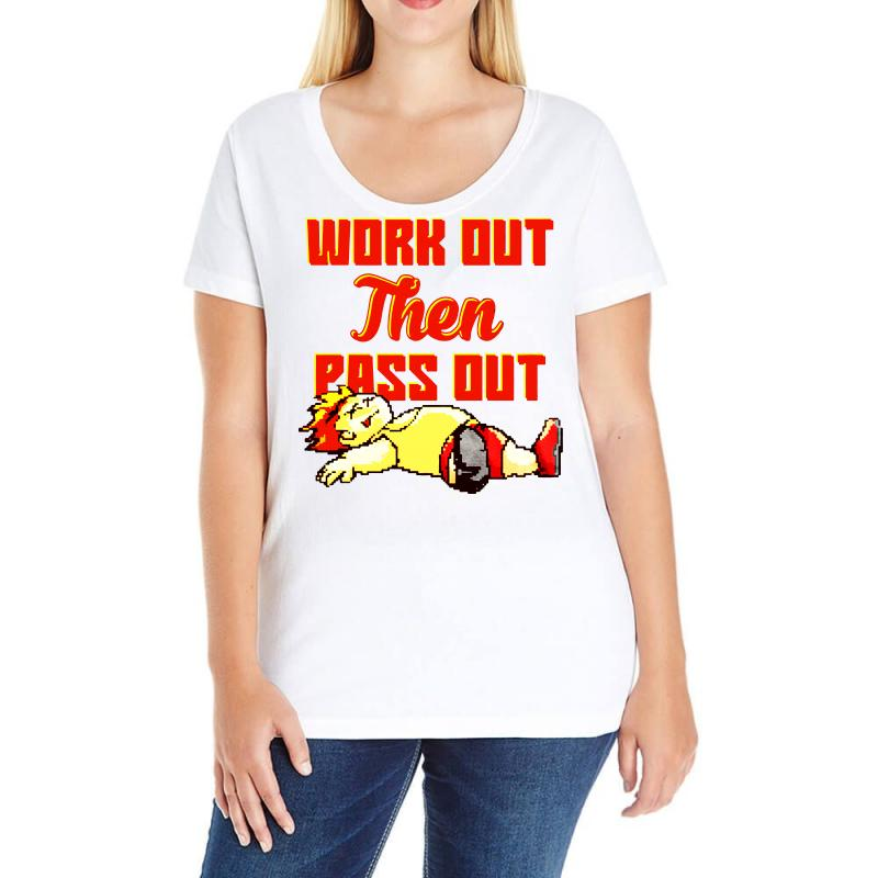 Work Out Then Pass Out Ladies Curvy T-shirt | Artistshot