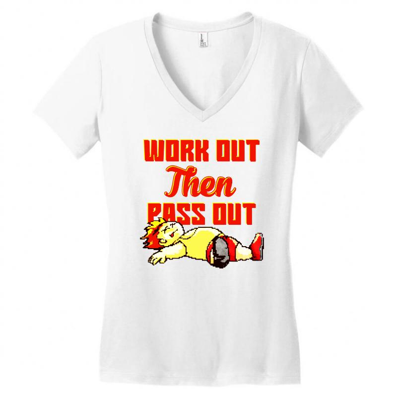 Work Out Then Pass Out Women's V-neck T-shirt | Artistshot