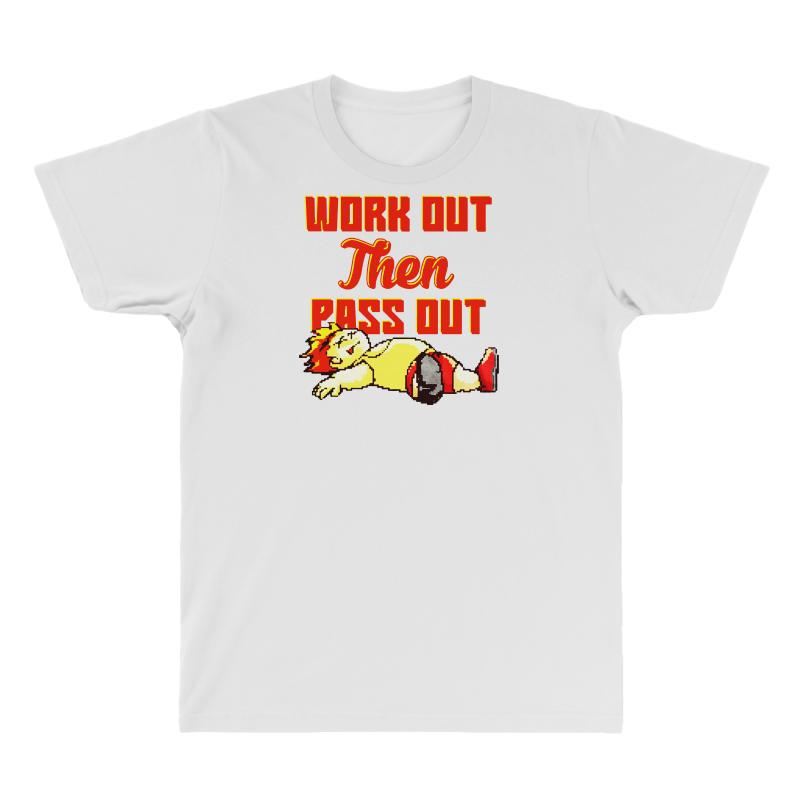 Work Out Then Pass Out All Over Men's T-shirt | Artistshot