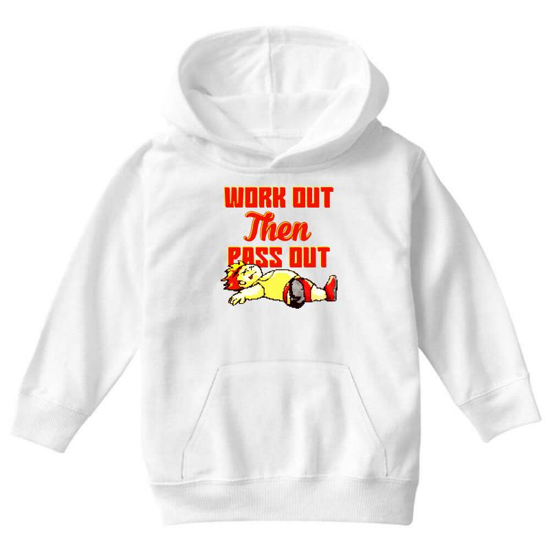 Work Out Then Pass Out Youth Hoodie | Artistshot