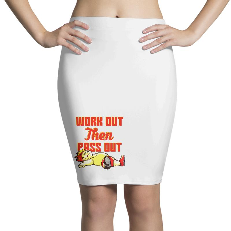 Work Out Then Pass Out Pencil Skirts | Artistshot