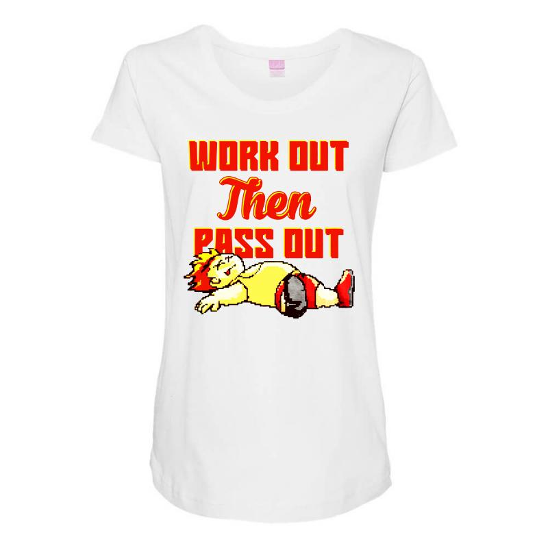 Work Out Then Pass Out Maternity Scoop Neck T-shirt | Artistshot