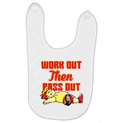 work out then pass out Baby Bibs | Artistshot