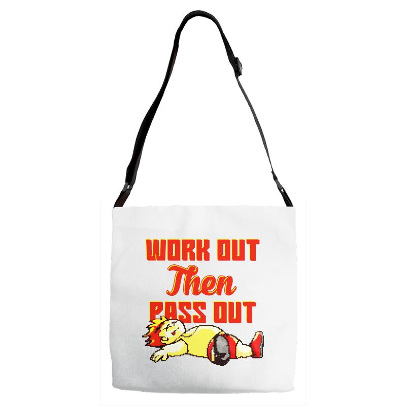 Work Out Then Pass Out Adjustable Strap Totes | Artistshot