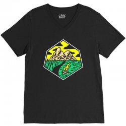camp badge V-Neck Tee | Artistshot