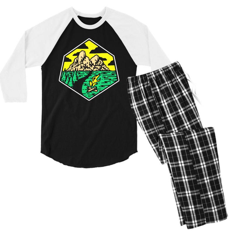 Camp Badge Men's 3/4 Sleeve Pajama Set | Artistshot