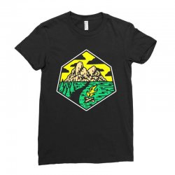 camp badge Ladies Fitted T-Shirt | Artistshot