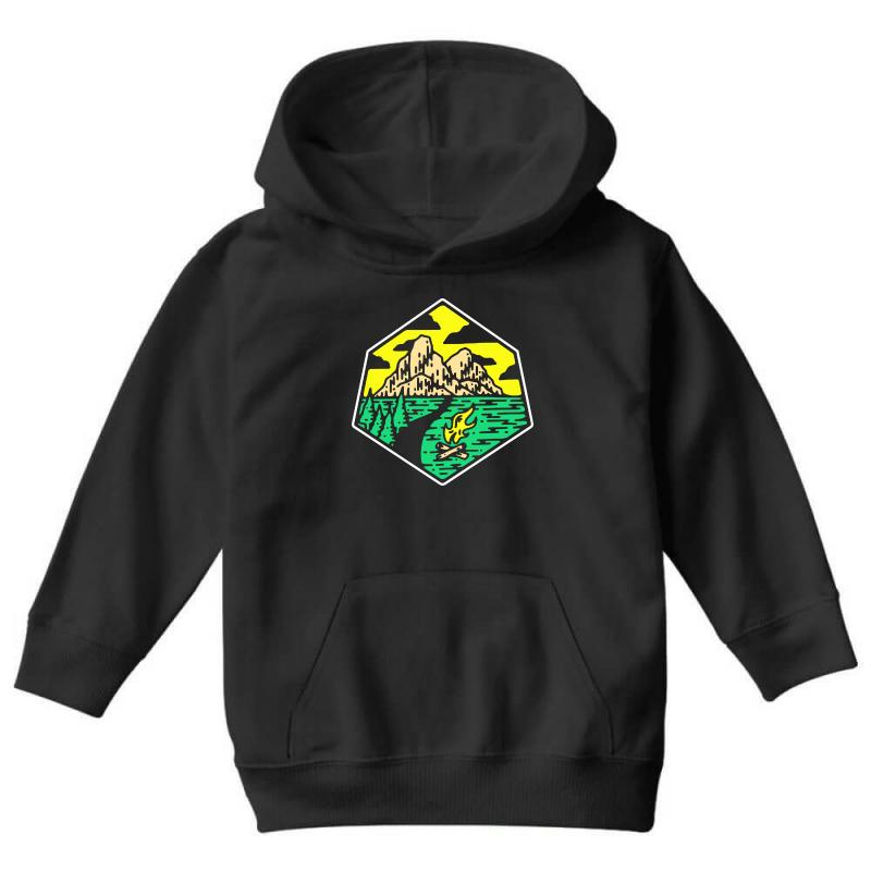 Camp Badge Youth Hoodie | Artistshot