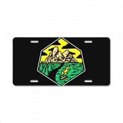 camp badge License Plate | Artistshot