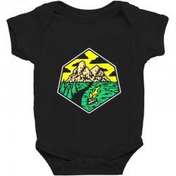 camp badge Baby Bodysuit | Artistshot