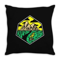 camp badge Throw Pillow | Artistshot