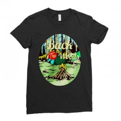 camp fire Ladies Fitted T-Shirt | Artistshot